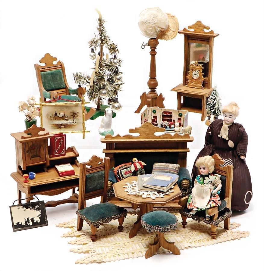 dollhouse furniture program, art nouveau, living-room