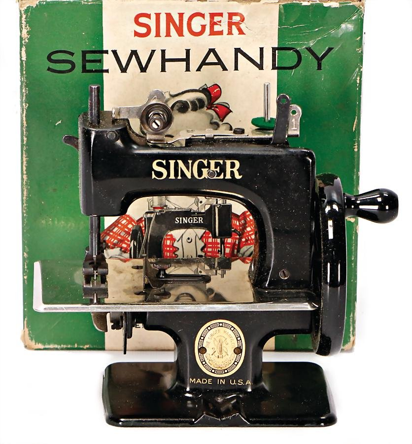 SINGER Sewhandy, children`s sewing machine, heavy tin