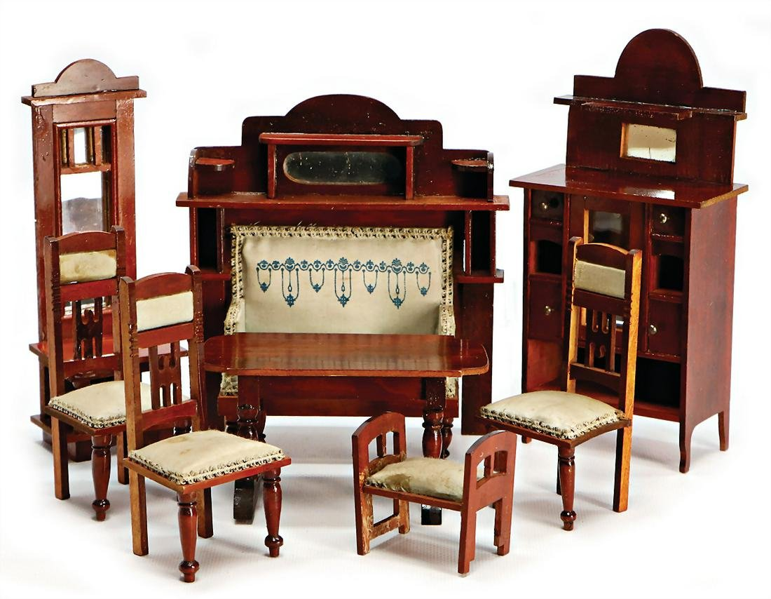 dollhouse furniture programme, art nouveau, sofa,