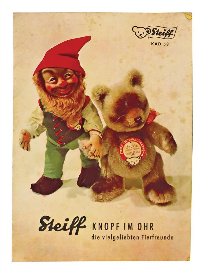 "STEIFF catalog, from 1953, ""STEIFF Knopf im Ohr, die"