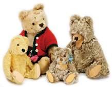 mixed lot of bears, postwar era, STEIFF masks bear,
