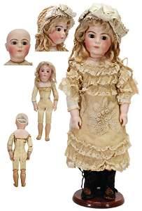 BRUE JEUNE bisque porcelain head doll, 46 cm, pressed