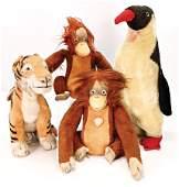 STEIFF 3 Jungelbuch-Figuren, 1x Tiger sitzend, ohne