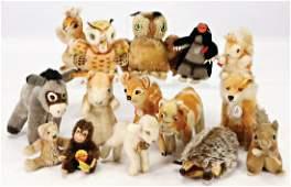 STEIFF Konv. 15 Tiere, alle bespielt, teilw. mit Knopf