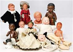 Konv. Celluloid-Puppen, meist SCHILDKRÖT, darunter