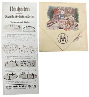 2 pieces fold out brochures Deutsches Spielzeug das