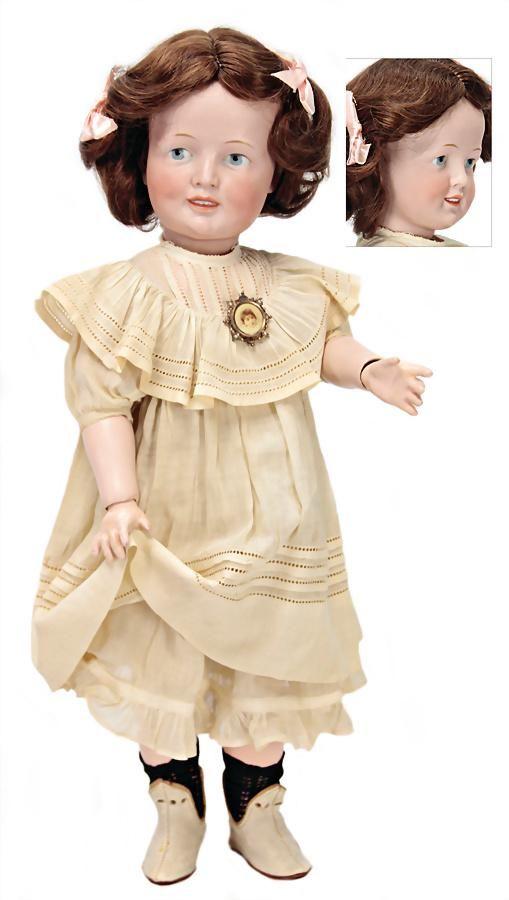 SIMON & HALBIG rare character doll, bisque