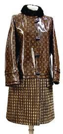 LOUIS VUITTON unusual monogram coat, at the top wet