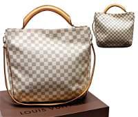 LOUIS VUITTON handbag, model: Soffi Damier Azur Canvas,