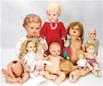 Konv. Celluloid-Puppen, darunter SCHILDKRÖT Christel,