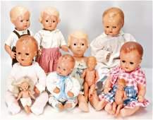 SCHILDKRÖT Konv. Celluloid-Puppen, darunter 4x