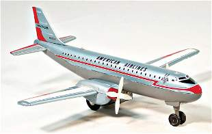 Haji 2engined prop plane American Airlines Japan