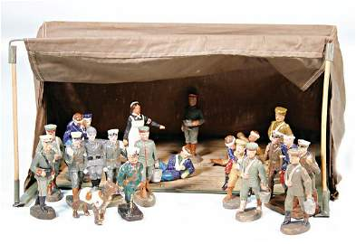 big hospital tent, along with it 10 pieces figures,