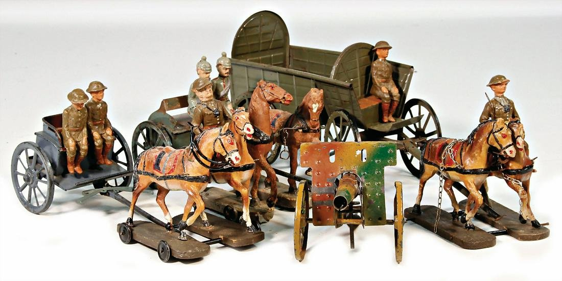 First World War, suitable for 10 cm, figures, 2 horse