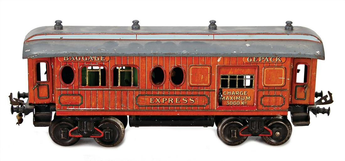 BING track 1, 4-axled American baggage coach, sheet