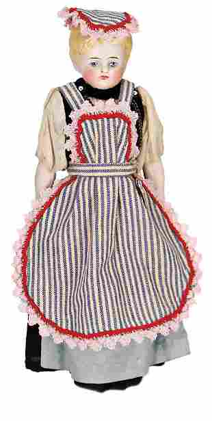 Parian shoulder headed doll bisque porcelain head
