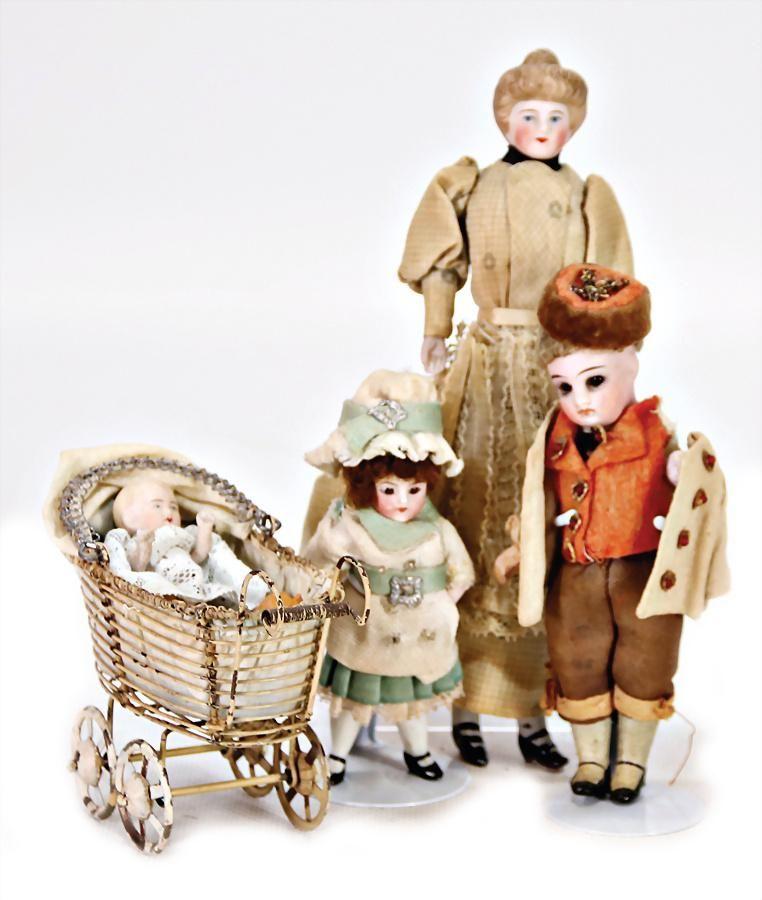 dollhouse doll, housekeeper, 18cm, bisque shoulder