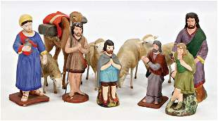nativity figures mass probably before 1900 10125