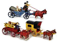 ERZGEBIRGE mixed lot with 3 pieces, 1x fire engine,