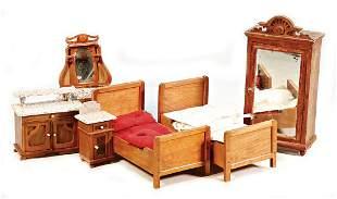 PuppenstubenSchlafzimmerMbel Spiegelkommode 17 cm