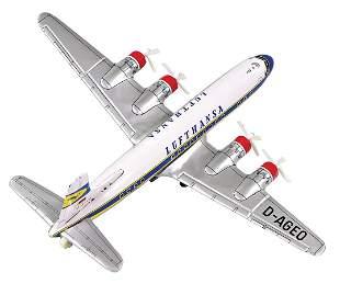 4-engined prop plane, Lufthansa, Japan, 25 cm, flywheel
