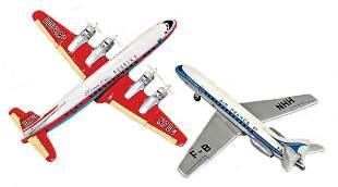 2 pieces, DC-7C, Seven Seas, Douglas, 4-engined prop