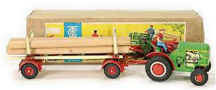 TIPP&CO TCO 65, tractor, with trailer, loaded with