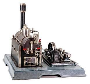 MäRKLIN steam engine model, with dynamo and feed pump,