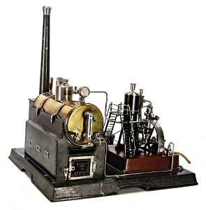 MäRKLIN steam engine for ships, surface area 46x53 cm,