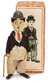 SCHUCO dancer Charly Chaplin, 16 cm, clock mechanism is