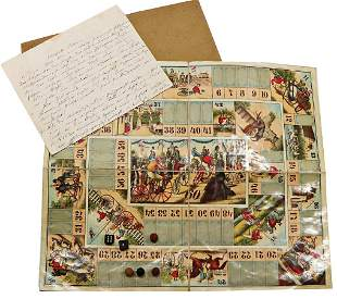 early game, Biedermeier, game of dice, 45x37 cm, with