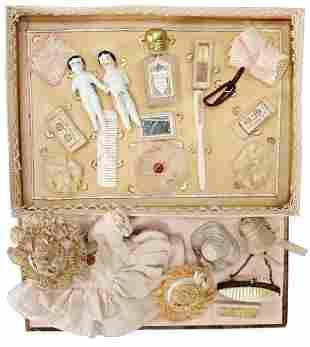Biedermeier, box with washing utensils, soap