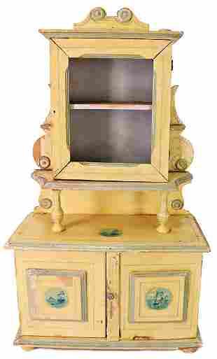 PROBABLY GOTTSCHALK doll kitchen cupboard for a stately