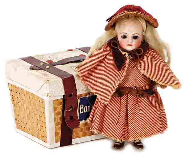 small all-bisque doll, 12.5 cm, socket head, closed