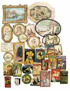 nice treasure chest, pictures, tin signs, tins, small