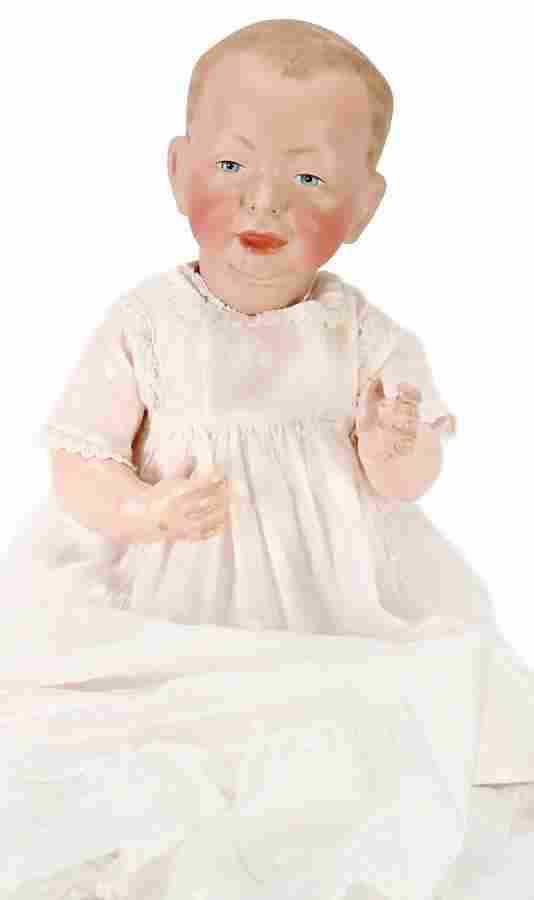 K&R 100, bisque porcelain head doll, Kaiser baby,