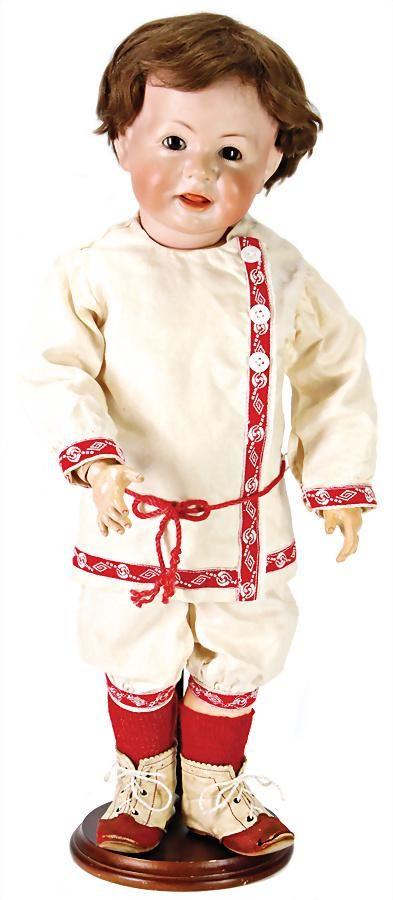 K&R 116A, bisque porcelain character doll, 46 cm,