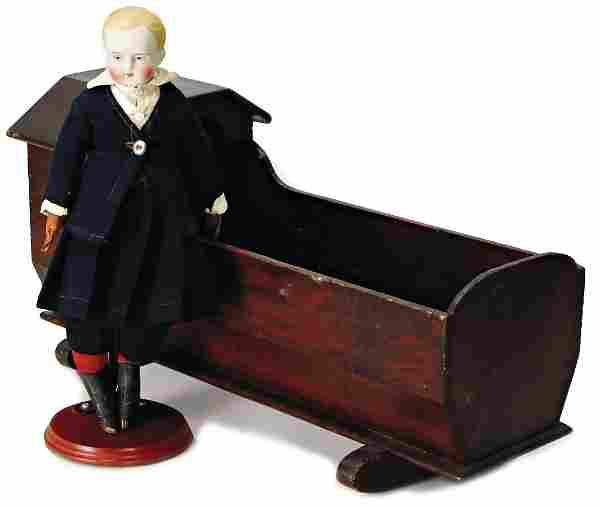 Biedermeier, boy, bisque porcelai shoulder headed doll,
