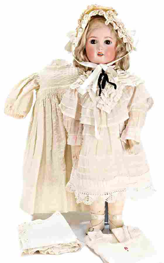 bisque porcelain head doll, not marked 50 cm, bisque