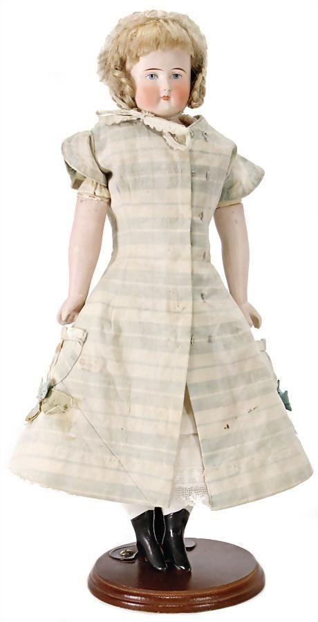 bisque porcelain-shoulder headed doll, Belton-type, 35