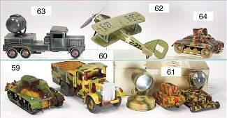 TIPP & CO. LKW, Scheinwerferwagen, Blech lithogr., 3-Ac