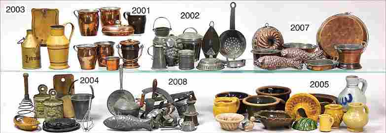mixed lot of doll kitchen accessories, 6 milk churns, c