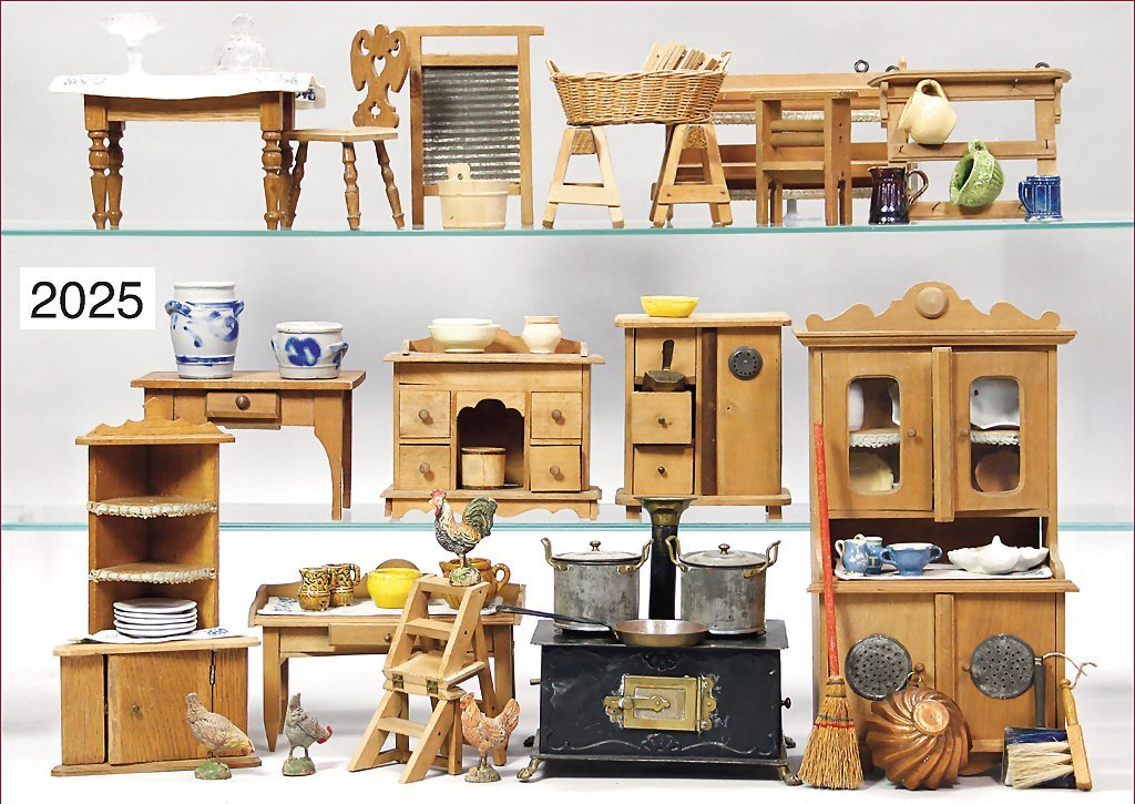 mixed lot of  a furniture program for a doll kitchen, c