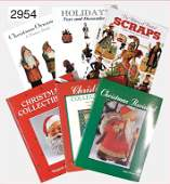 6 pieces books Christmas ornaments by Margaret Schiff