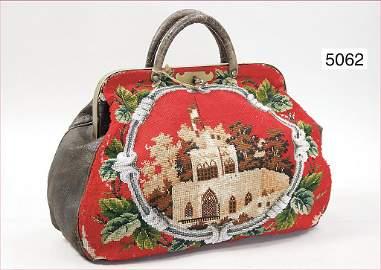 späte Biedermeier purse, front side with Petit