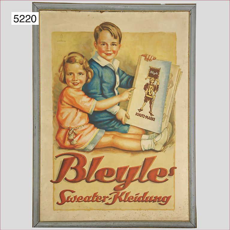 BLEYLE cardboard poster ,Sweater clothes (marked: