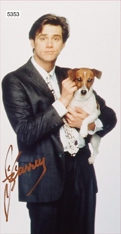 signature by the well-known US actor Jim Carrey,