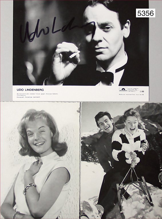 2 postcards, B/W photo of Romy Schneider, photographer