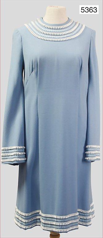 '60s, ladies' dress, wool mix, circular collar, wide