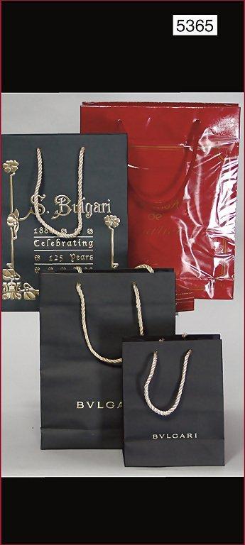 mixed lot of paper shopping bags, 1x Cartier Paris,